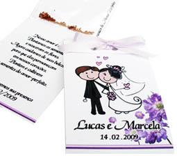 Lembrancinhas de casamento SEMENTES DO AMOR PERFEITO