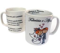 Canecas de Porcelana lembrancinhas de casamento