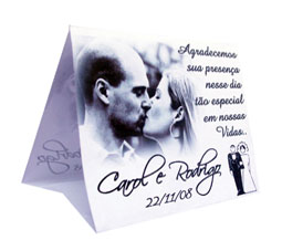 cartão de mesa casamento