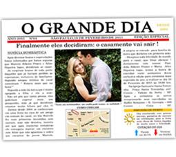 Convite de Casamento Jornal dos Noivos