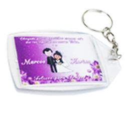 Lembrancinhas Chaveirinhos personalizados para casamento