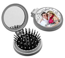 ad0ad8043 Lembrancinhas de casamento Mini escova e espelho de bolsa ...