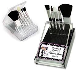 Fotos Lembrancinhas de Casamento Kit Pinceis para maquiagem + espelho