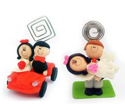 Lembrancinhas de casamento Noivinhos em biscuit porta recado
