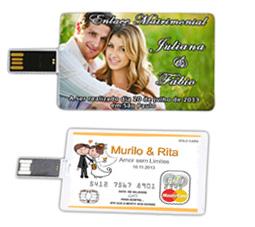 Pen Drive cartão Personalizado casamento