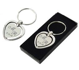 Chaveiro metal coração personalizado