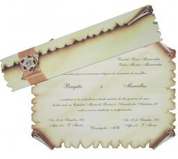 convites de casamento pergaminho