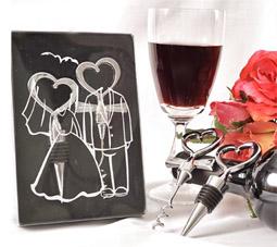 Lembrancinhas para padrinhos kit tampa de vinho noivos