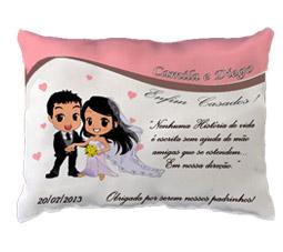 Lembrancinha para Padrinhos e Madrinha almofadas personalizadas