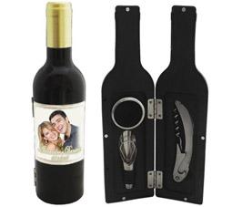 Lembrancinhas para padrinhos kit estojo para vinho