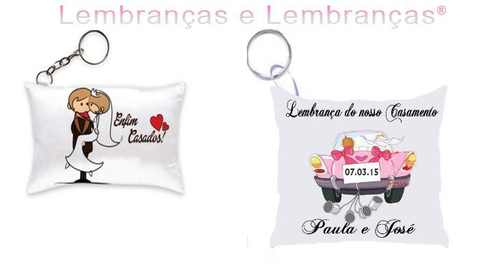 Lembrancinhas de casamento Mini Almofada Chaveiro