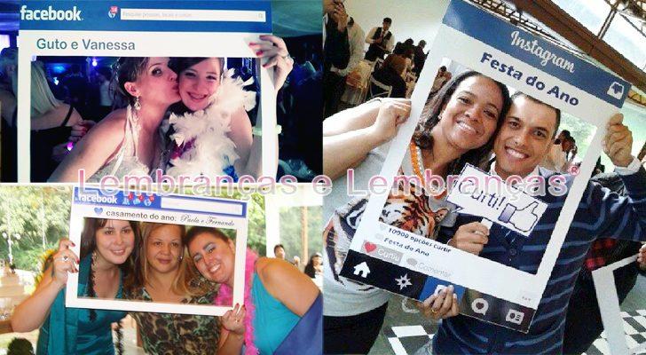 Moldura Placa Facebook para casamento