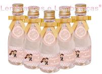 Lembrancinhas de casamento mini champagne personalizado Contagem - Minas Gerais