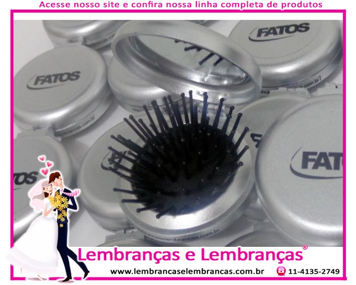 c0dea6682 Lembrancinhas de casamento Mini escova e espelho de bolsa personalizado  Bento Gonçalves – Rio Grande do Sul