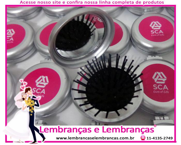 19be33254 Lembrancinhas de Casamento Mini escova e espelho de bolsa personalizado  Resende – Rio de Janeiro