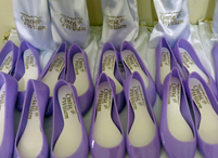 Lembrancinhas de casamento sapatilha personalizada Chapecó - Santa Catarina