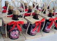 Lembrancinhas de casamento mini vinho personalizado Barbacena - Minas Gerais