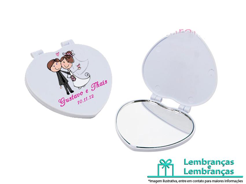 lembrancinhas de casamento Espelho em formato de coração, lembrancinhas de casamento Espelho personalizado, lembrancinhas para casamento Espelho em formato coracao personalizado
