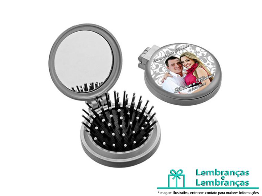 1b80df650 Lembrancinhas de casamento Mini Escova Espelho de Bolsa ...