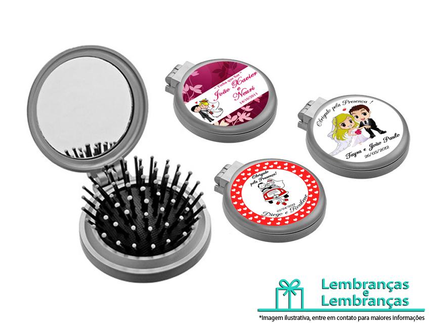 e01936e67 Lembrancinhas de casamento Mini Escova Espelho de Bolsa ...