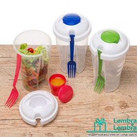 Brinde Copo Salada 850ml com Garfo e Suporte para Molho , Brinde Copo Salada 850ml com Garfo e Suporte para Molho personalizado , Brinde Copo para Salada 850ml com Garfo e Suporte para Molho , copos para salada , copo para salada personalizado , copo para salada brindes