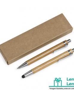 Brinde kit ecológico caneta e lapiseira em bambu com estojo de papelão, Brinde kit ecológico caneta e lapiseira, Brindes kit ecológico caneta e lapiseira em bambu com estojo de papelão, Brinde kit de caneta e lapiseira com estojo