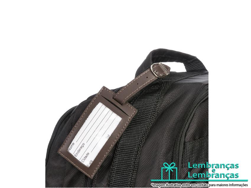 4f708d0d48 Brinde Tag identificador de bagagem de couro sintético, Brinde Tag  identificador de bagagem, Brindes