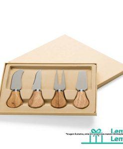 Brinde Kit Queijo 4 Peças, kit queijo personalizado, tabua de queijo personalizada