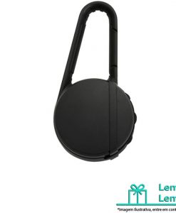 Brinde Caixa de Som Bluetooth com Mosquetão, brindes personalizados, brinde caixa de som bluetooth