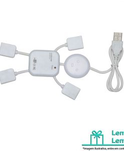 Hub Boneco com 4 Entradas USB, Adaptador usb, Hub Boneco, Hub 4 Entradas USB, Hub Boneco com 4 Entradas