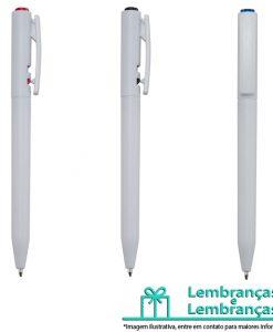 Brinde caneta plástica branca com detalhes coloridos, Brindes caneta plástica branca com detalhes coloridos, caneta plástica branca, caneta plástica branca com detalhes coloridos