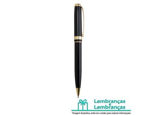 Brinde caneta semi-metal com detalhes dourados, Brindes caneta semi-metal com detalhes dourados, caneta semi-metal, caneta com dourado