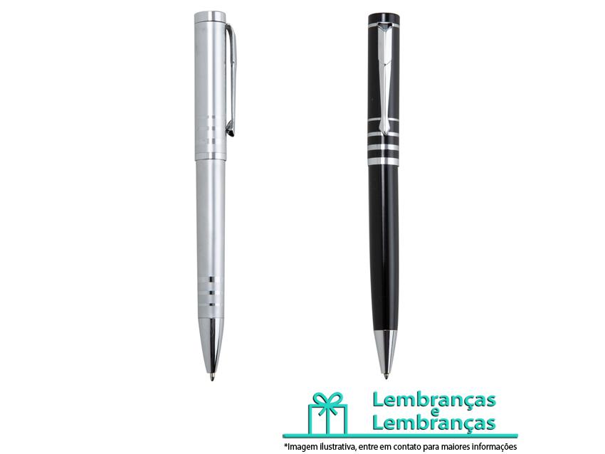 Brinde caneta semi-metal com quatro anéis centrais, Brindes caneta semi-metal com quatro anéis centrais, caneta semi-metal, caneta semi-metal com quatro anéis de decoração