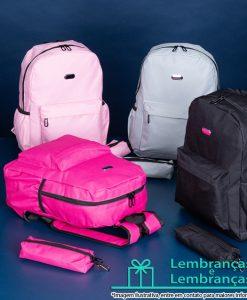 Brinde mochila de nylon com estojo, Brindes mochila de nylon com estojo, mochila de nylon com estojo, mochila de nylon, mochila com estojo