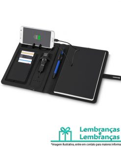 Brinde caderno com carregador power bank, Brindes caderno com carregador power bank, Brinde caderno com carregador, caderno com carregador, power bank, carregador
