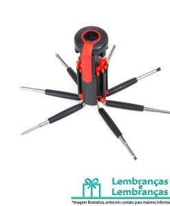 Brinde kit ferramenta retrátil com 7 chaves e lanterna de 6 Leds, Brindes kit ferramenta retrátil com 7 chaves e lanterna de 6 Leds, kit ferramenta retrátil, kit ferramenta retrátil com 7 chaves e lanterna de led