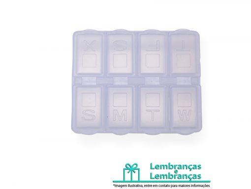 Brinde porta comprimido semanal em material plástico, Brindes porta comprimido semanal em material plástico, porta comprimido semanal, porta comprimido, porta comprimido de plástico