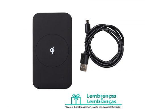 Brinde carregador USB por indução, Brindes carregador USB por indução, carregador USB por indução, carregador USB, carregador preto, carregador por indução