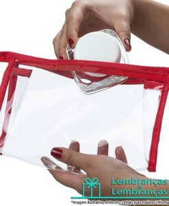 Brinde necessaire plástica transparente, Brindes necessaire plástica transparente, necessaire plástica, necessaire transparente, necessaire