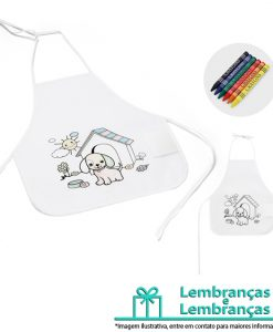 Brinde avental de criança para colorir, Brindes avental de criança para colorir, avental para crianças, avental, avental de criança