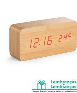 Brinde relógio com calendário alarme e termômetro, Brindes relógio com calendário alarme e termômetro, Relógio com calendário